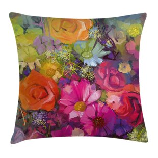 Floral Daisies Peony Gerbera Pillow Cover