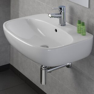 Buying Moda Vitreous China 24 Wall Mount Bathroom Sink with Overflow By Bissonnet