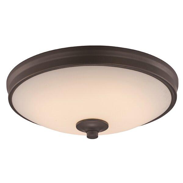 Charlton Home Heng 1 Light Simple Bowl Led Flush Mount Reviews Wayfair