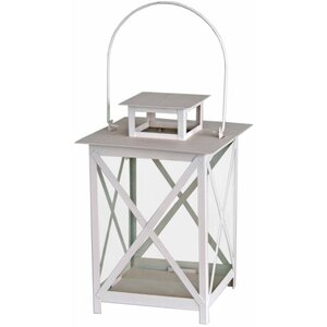 Cross Hatch Metal Lantern
