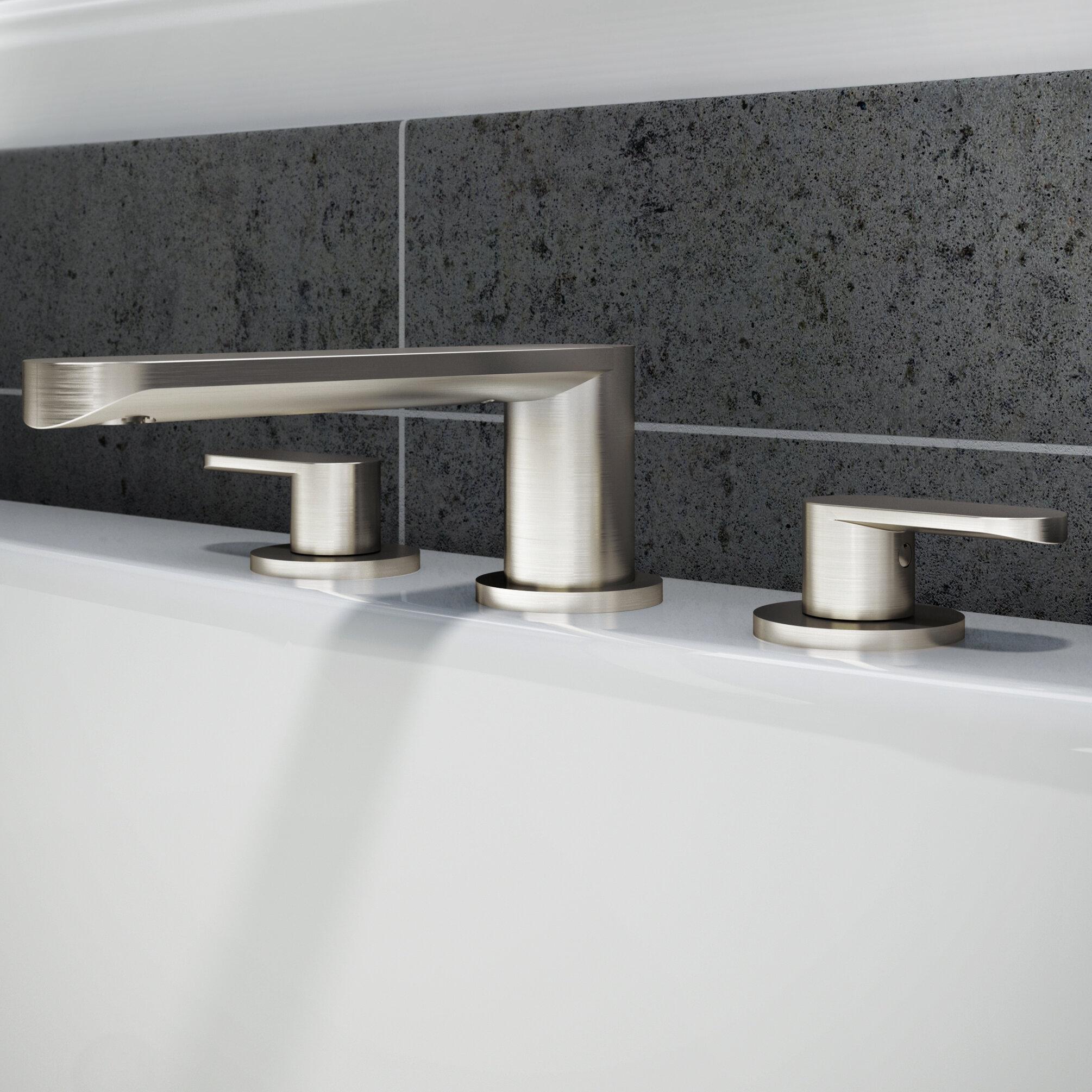 Jacuzzi® Razzo Double Handle Deck Mount Roman Tub Faucet Trim | Wayfair