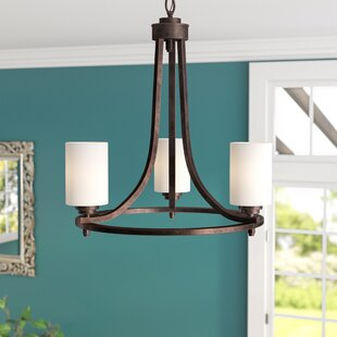 Andover Mills Castano 3-Light Shaded Chandelier