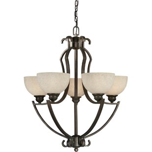 Winston Porter Vanzandt 5-Light Shaded Chandelier