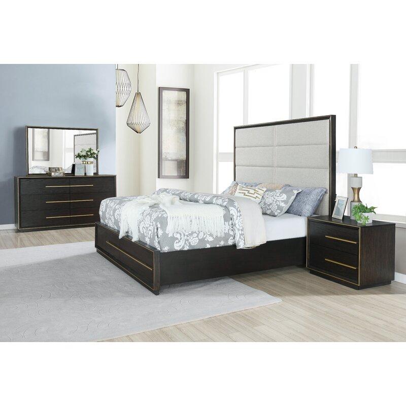 Everly Quinn Blairstown Solid Wood 5 Piece Bedroom Set Wayfair