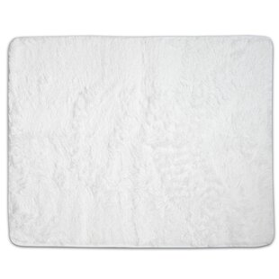 Find for Hutton Plush Faux Fur White Area Rug By Wrought Studio