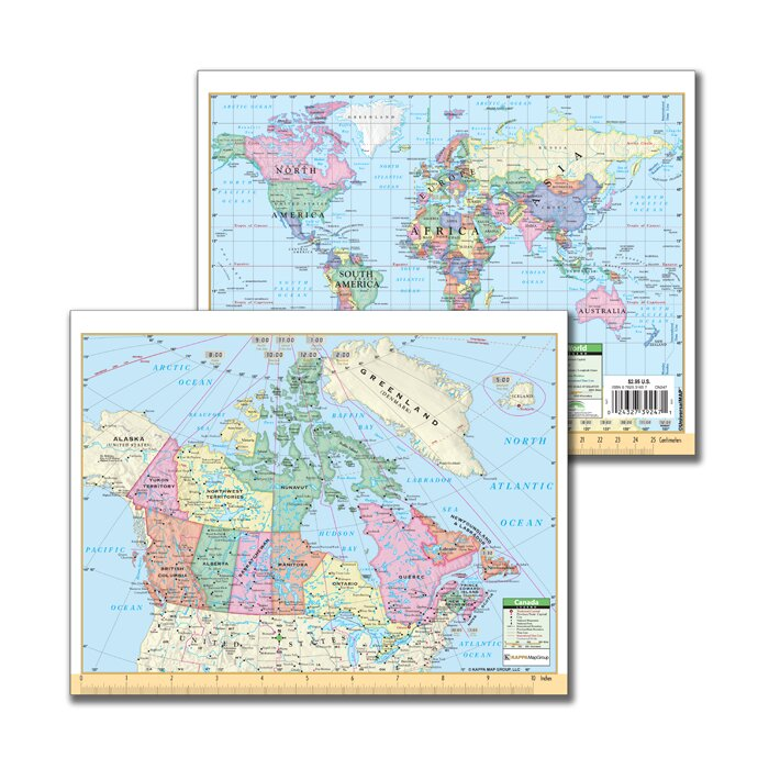 Map Of Canada And Europe.Universal Map Canada And World Notebook Map Wayfair Ca