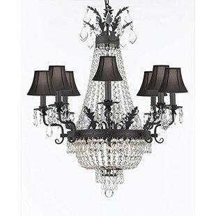 Ginnie Crystal 12-Light Shaded Chandelier by Rosdorf Park