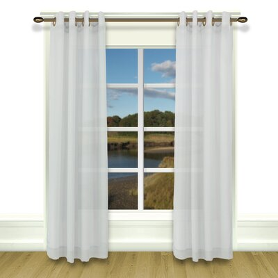 White And Taupe Curtains Wayfair