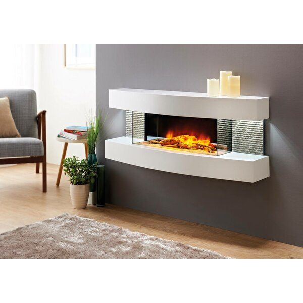 Orren Ellis Fraenzel Curve Wall Mounted Electric Fireplace