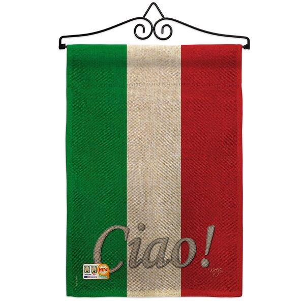 Breeze Decor Italian 2 Sided Burlap 19 X 13 In Garden Flag Wayfair