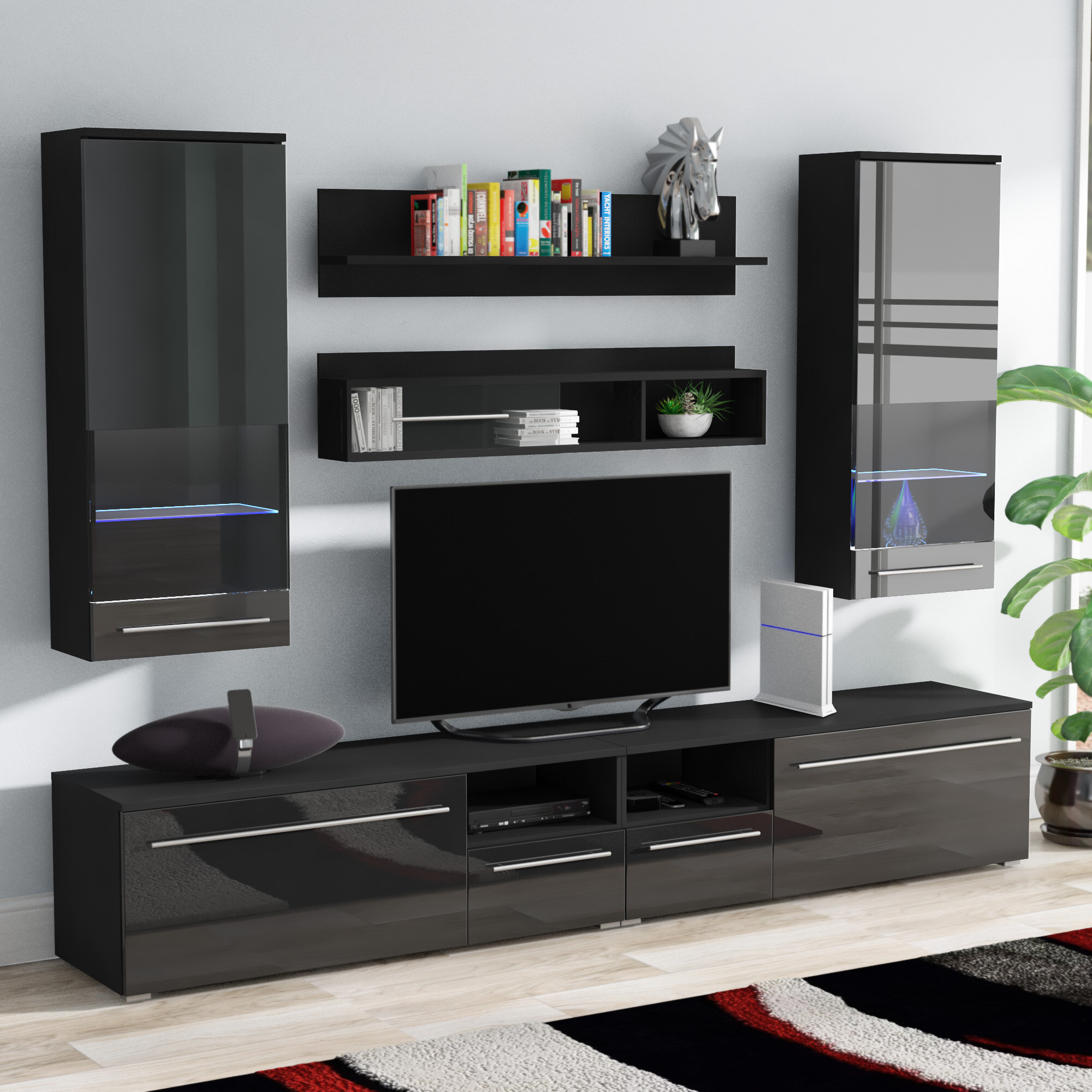 "Orren Ellis Jorah Entertainment Center for TVs up to 58"" & Reviews"