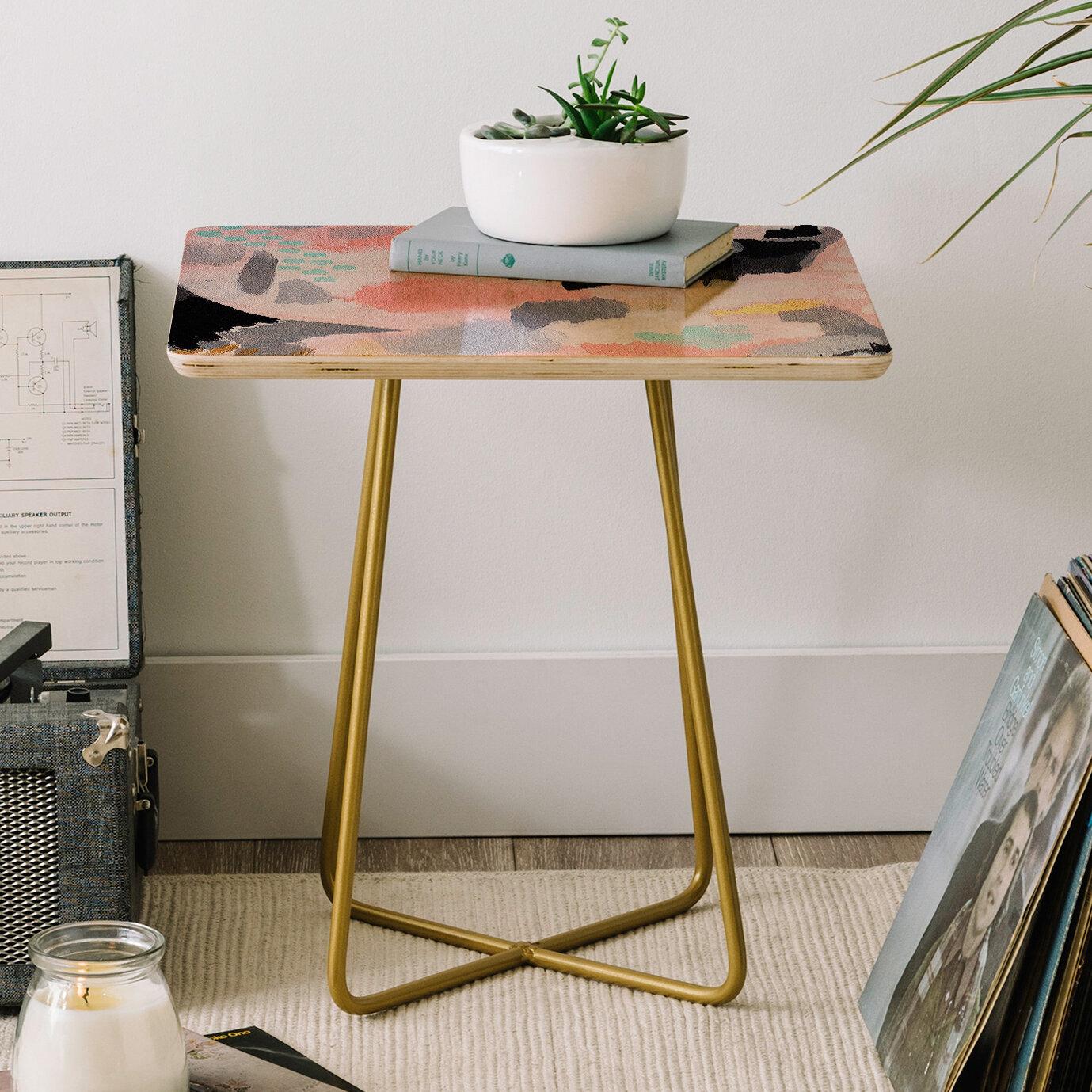 East Urban Home Laura Fedorowicz Serenity Abstract End Table Wayfair