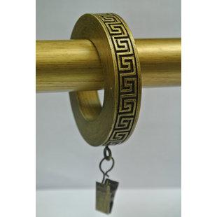 Eminence Greek Key Designer Curtain Ring (Set of 14) by Bloomsbury Market
