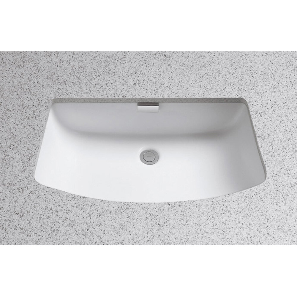 incredible Toto Undermount Sink Rectangular Part - 6: Toto Soiree Ceramic Rectangular Undermount Bathroom Sink with Overflow u0026  Reviews | Wayfair