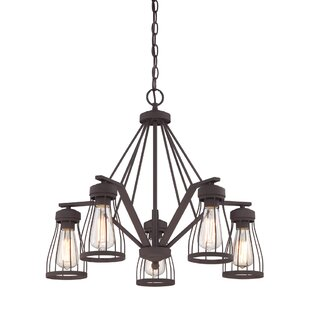 Laurel Foundry Modern Farmhouse Greenside 5-Light Shaded Chandelier