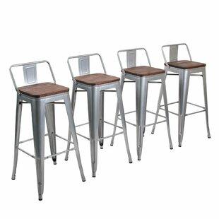 Excellent Saleh Bar Counter Stool Set Of 4 Inzonedesignstudio Interior Chair Design Inzonedesignstudiocom