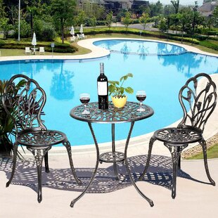 Rawlings Furniture Tulip 3 Piece Bistro Set by August Grove