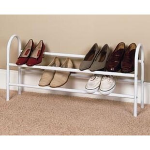 Two Tier Expanding 12 Pair Shoe Rack By Closetmaid