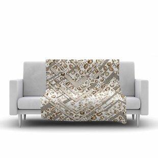 Victoria Krupp Abstract Animal Chevron Digital Fleece Blanket ByEast Urban Home