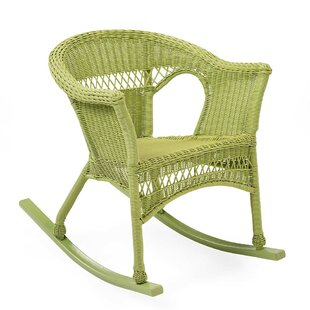 Plow & Hearth Resin Wicker Rocking Chair