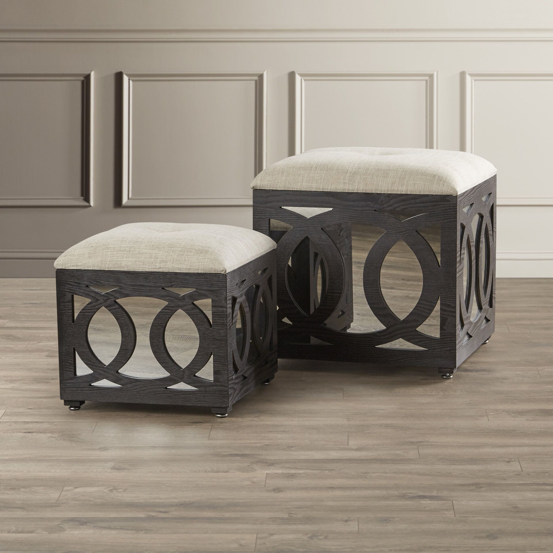 House of Hampton Yarm 2 Piece Cube Ottoman Set & Reviews | Wayfair