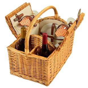 Vineyard Picnic Basket by Picnic at Ascot Modern