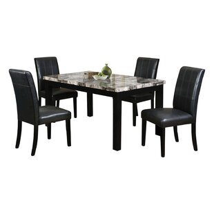 Alberto 5 Piece Dining Set by Fleur De Li..