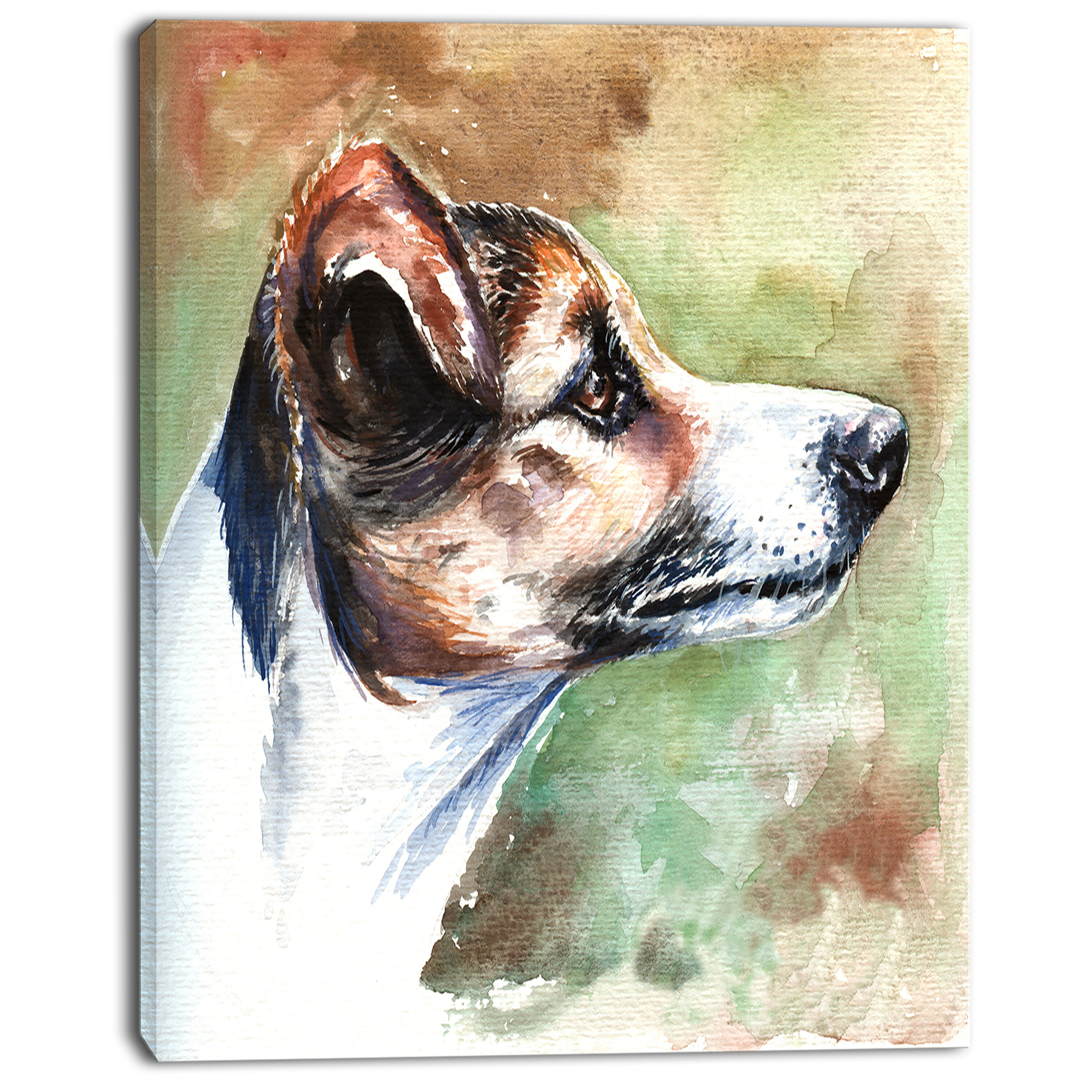Designart Jack Russell Terrier Painting Print On Wrapped Canvas Wayfair