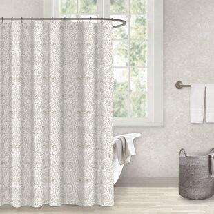 Charming Danforth Sand 100% Cotton Shower Curtain