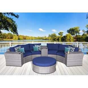 Longshore Tides Campa Olefin Round 8 Piece Conversation Set with Cushions