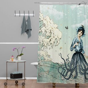 Ketner Sea Fairy Extra Long Shower Curtain by Brayden Studio