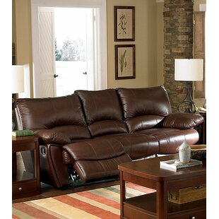 Laurencho Leather Reclining Sofa by Red Barrel Studio