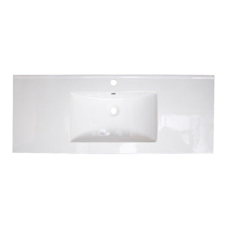 Charlton Home Skiatook Ceramic 48 Single Bathroom Vanity Top Wayfair