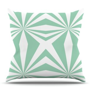 Starburst Mint By Project M Outdoor Throw Pillow by East Urban Home