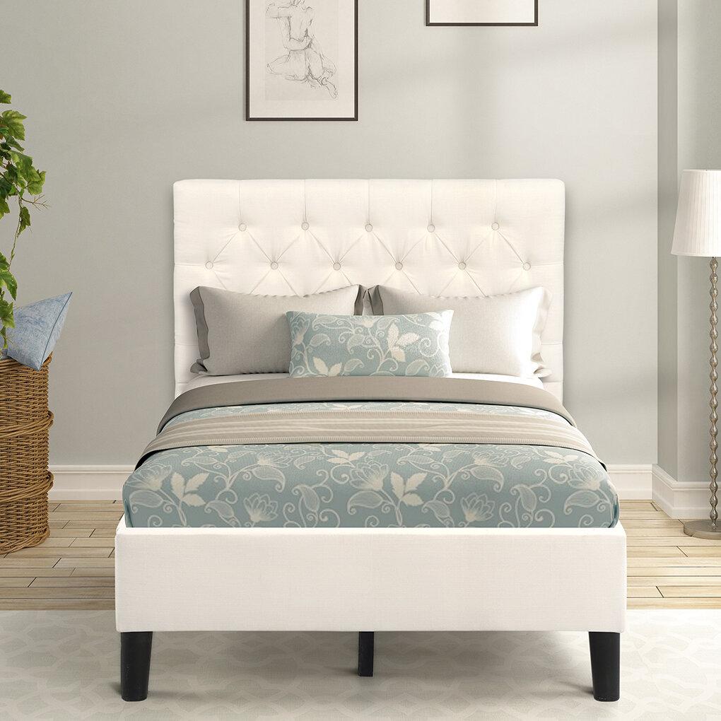 Latitude Run Davonda Twin Tufted Low Profile Platform Bed Wayfair