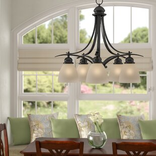 Andover Mills Bourbon 5-Light Shaded Chandelier