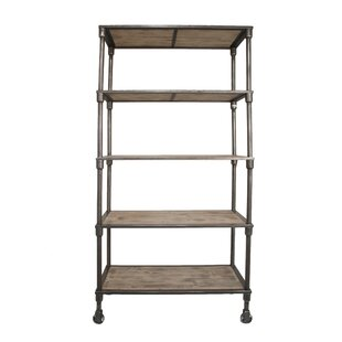 2017 Sale Loftis Fabulous Metal Wood Etagere Bookcase 17 Stories