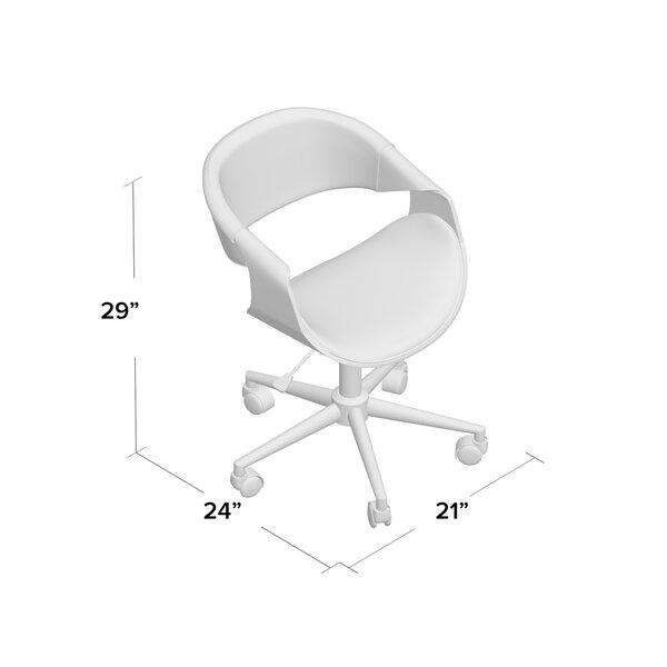 George Oliver Egremont Mid Century Desk Chair Reviews Wayfair