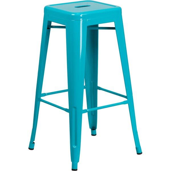 Remarkable Teal Color Bar Stools Wayfair Inzonedesignstudio Interior Chair Design Inzonedesignstudiocom