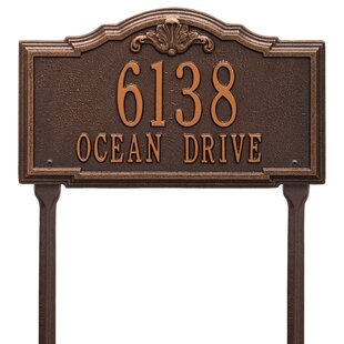 Princeton ESTATE SIZE Address Plaque Lawn House Sign Numbers wall Custom