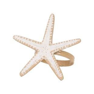 Sea Star Napkin Rings (Set of 6)