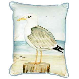 Sea gull outdoor lighting wayfair ansley seagull indooroutdoor lumbar pillow aloadofball Gallery