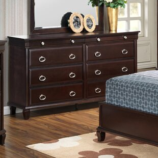 Ambrosina 8 Drawer Double Dresser with Mirror