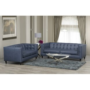 Pranzal 2 Piece Leather Living Room Set by 17 Stories