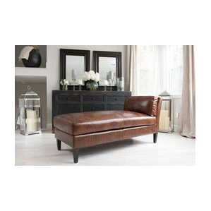 pritam leather chaise lounge
