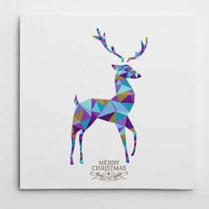 'Kaleidoscope Holiday Reindeer' Photographic Print on Wrapped Canvas