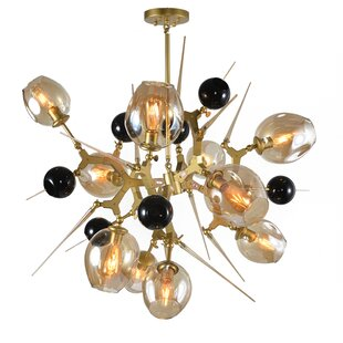 Brayden Studio Holly Hills 10-Light Aluminum Shaded Chandelier