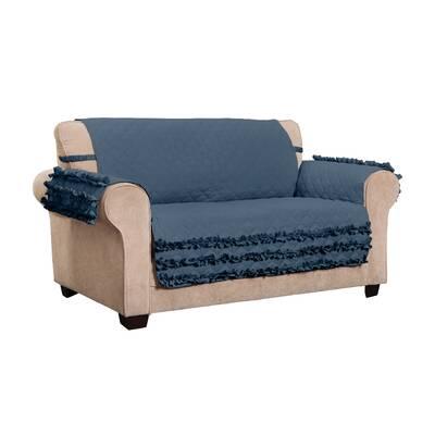 Astounding House Of Hampton Ruffled Box Cushion Loveseat Slipcover Pdpeps Interior Chair Design Pdpepsorg