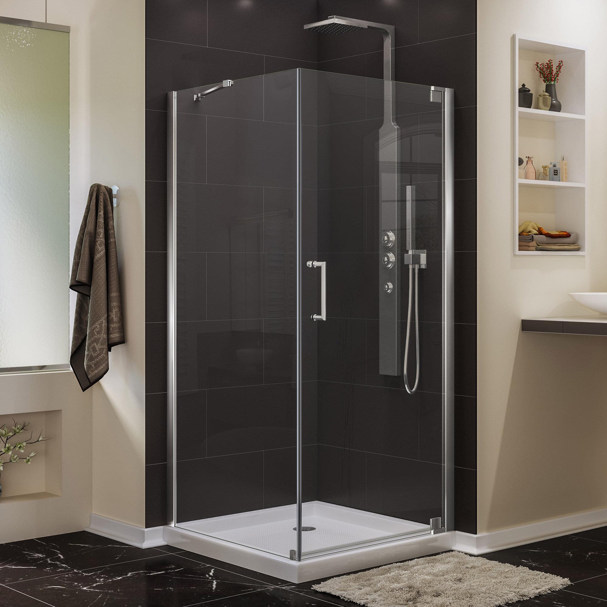 Dreamline Elegance 34 X 72 Pivot Frameless Shower Door With Clear Max Technology Wayfair
