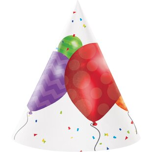 Balloon Blast Hat Paper Disposable Party Favor (Set of 24)